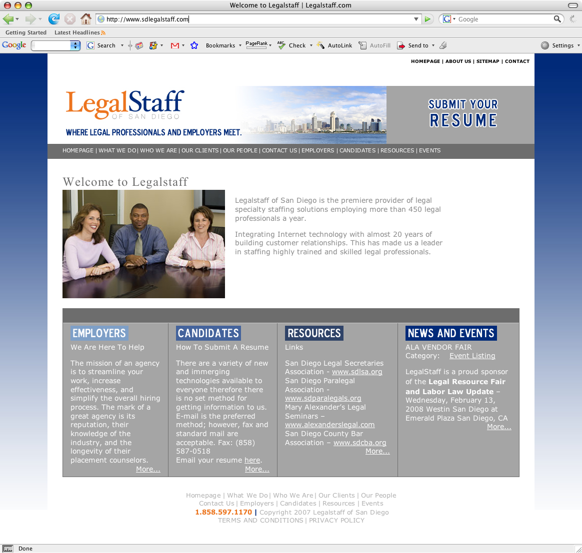 NJ Website Design - LegalStaff of San Diego