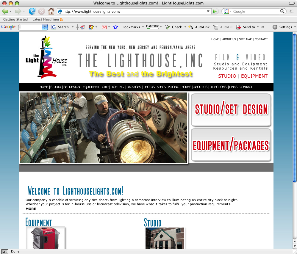 NJ Website Design - The Lighthouse Inc.